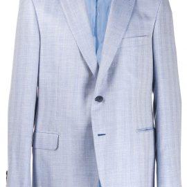 Brioni chevron pattern blazer - Blue