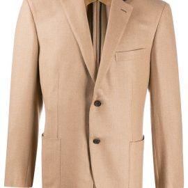 Brioni two tone single breasted blazer - Brown