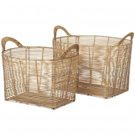 Broste Copenhagen Safi Rattan Baskets - Set of 2