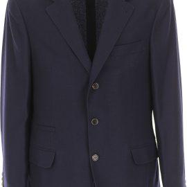 Brunello Cucinelli Blazer for Men, Sport Coat On Sale, Navy Blue, Cashemere, 2021, L M XL