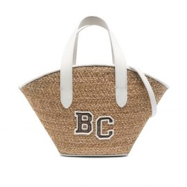 Brunello Cucinelli Kids logo-embroidered beach bag - Brown