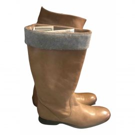 Brunello Cucinelli N Camel Leather Ankle boots for Women