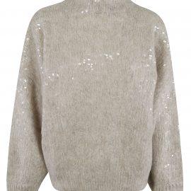 Brunello Cucinelli Oversize Embellished Sweater