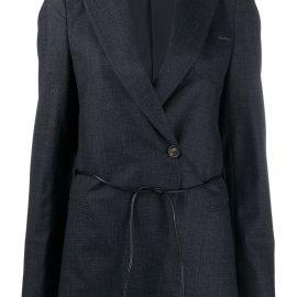 Brunello Cucinelli drawstring-waist double-breasted blazer - Black