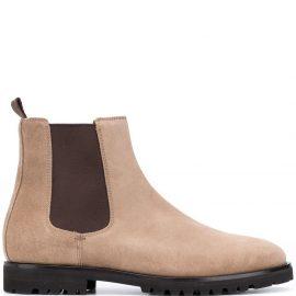Brunello Cucinelli suede Chelsea boots - Neutrals