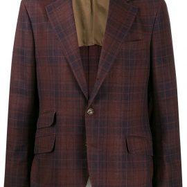 Brunello Cucinelli tartan pattern blazer - Red