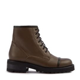 Bryce - Army Calf Leather Green