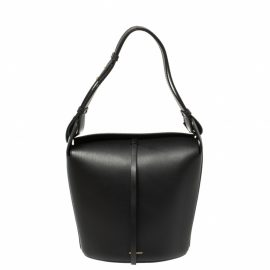 Burberry Black Leather Small Supple Bucket Bag