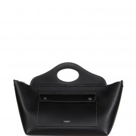 Burberry Burberry Small Tote Bag In Black Letather