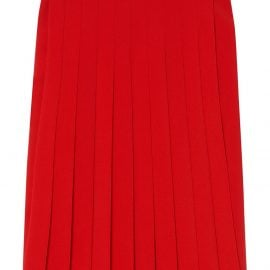 Burberry Cady pleated midi skirt - Red