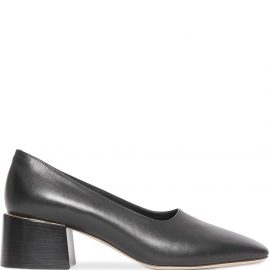 Burberry Gold-plated Detail Lambskin Block-heel Pumps - Black