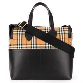 Burberry Kids vintage check shoulder bag - Black