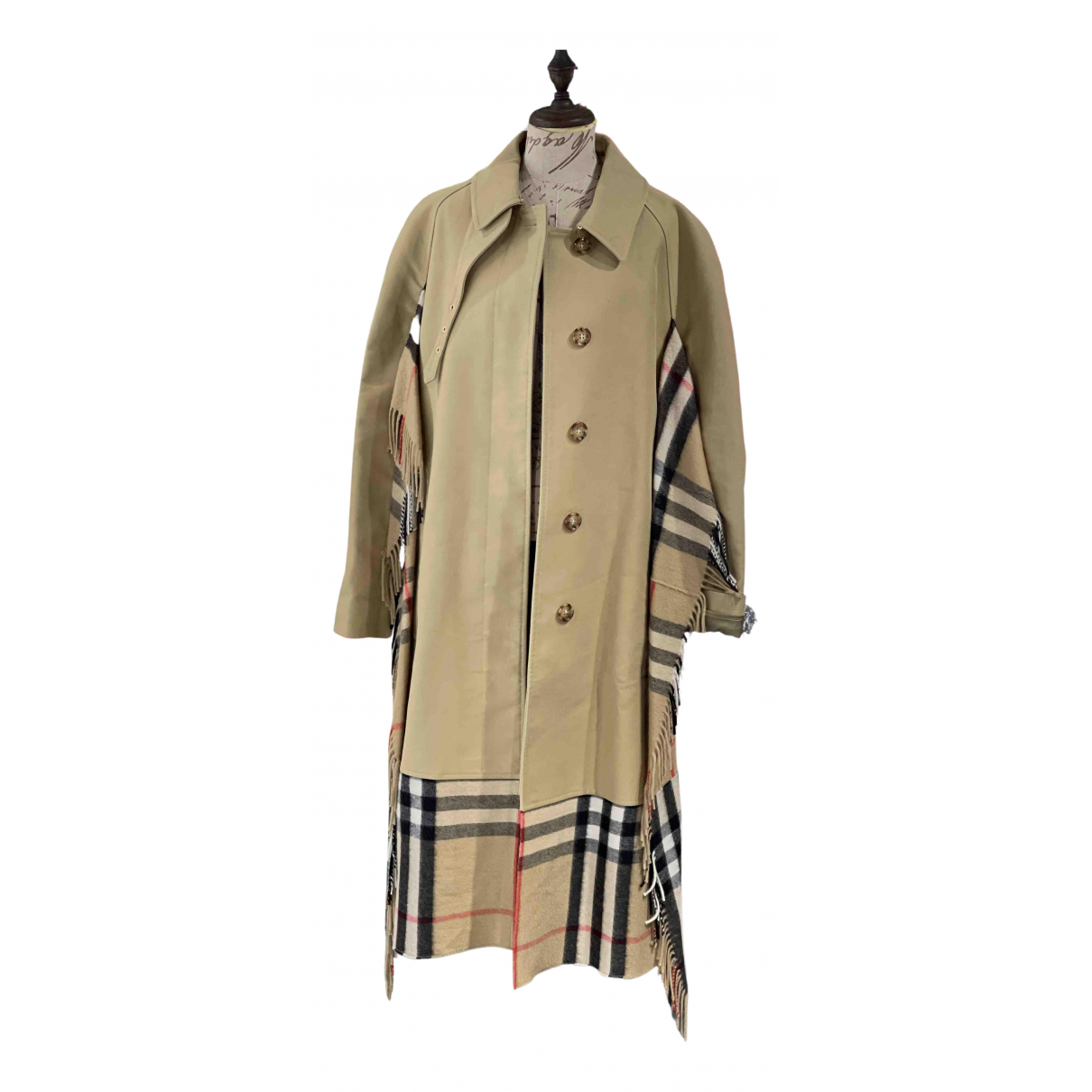 Burberry N Khaki Cotton Trench Coat for Women