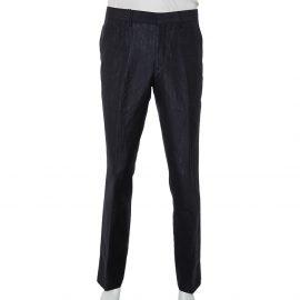 Burberry Navy Blue Mohair & Linen Straight Leg Pants M