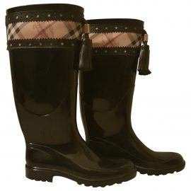 Burberry Patent leather wellington boots
