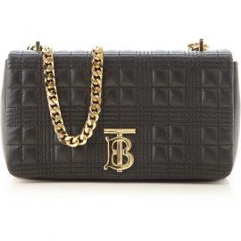 Burberry Shoulder Bag for Women On Sale, Black, Leather, 2021