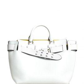 Burberry The Medium Leather Belt Bag - White