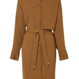 Burberry belted shirt dress - Brown