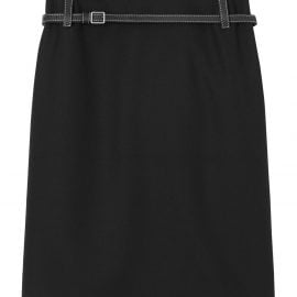 Burberry leather harness detail pencil skirt - Black