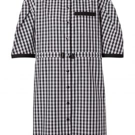 Burberry puff sleeve gingham shirt dress - Black