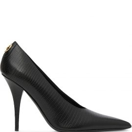 Burberry stud detail 105mm pointed toe pumps - Black