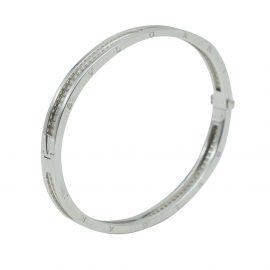 Bvlgari B.Zero 1 White Gold Diamond Bracelet Size Medium