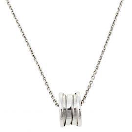 Bvlgari B.Zero1 3-Band 18K White Gold Band Pendant Necklace