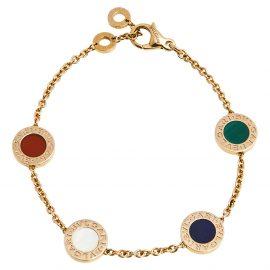 Bvlgari Bvlgari Multi Gemstone 18K Rose Gold Station Bracelet SM