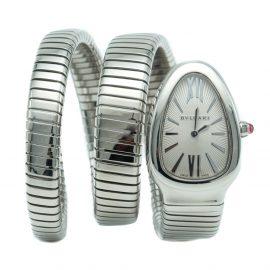 Bvlgari Serpenti White Dial Stainless Steel Women's Watch 35MM