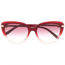 Bvlgari gradient cat-eye sunglasses - Red