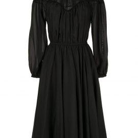 CK Calvin Klein long-sleeve shirt dress - Black