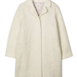 Caffe' D'orzo TEEN single-breasted wool coat - White
