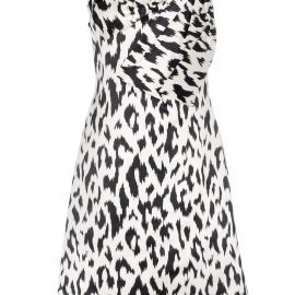 Calvin Klein 205W39nyc Cheetah print brooch embellished sleeveless midi dress - Black