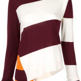 Calvin Klein 205W39nyc asymmetric hem jumper - Multicolour