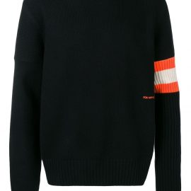 Calvin Klein 205W39nyc contrast sleeve band cashmere sweater - Black