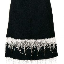 Calvin Klein 205W39nyc embroidered fringe midi skirt - Blue