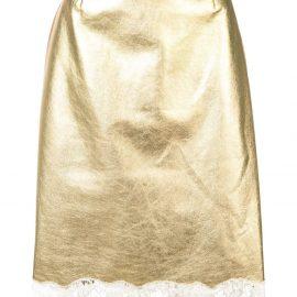 Calvin Klein 205W39nyc lace trim midi skirt - Yellow