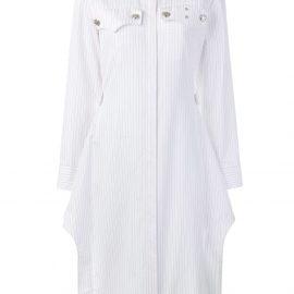 Calvin Klein 205W39nyc pinstripe shirt dress - White