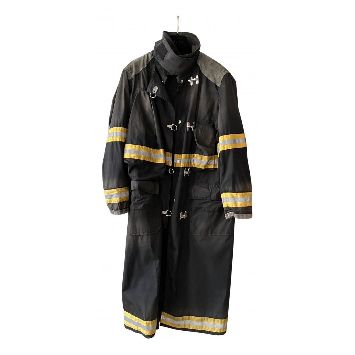 Calvin Klein 205w39nyc N Black Cotton Coat for Men