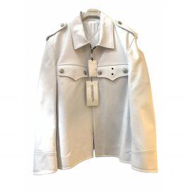 Calvin Klein 205w39nyc N White Leather Jacket for Men