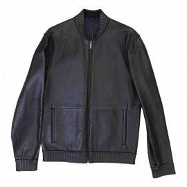Calvin Klein N Black Leather Jacket for Men