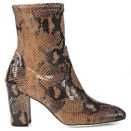 Caressa Python-Embossed Leather Sock Boots