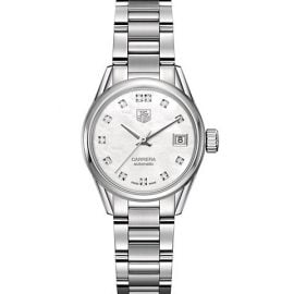 Carrera 28MM Stainless Steel, Mother-of-Pearl & Diamond Automatic Bracelet Watch