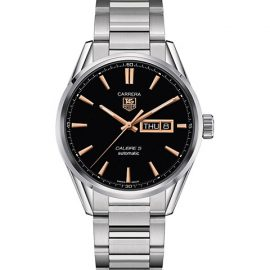 Carrera 41MM Stainless Steel Day-Date Automatic Bracelet Watch