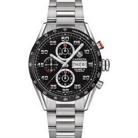 Carrera 43MM Stainless Steel Automatic Tachymeter Chronograph Bracelet Watch