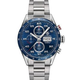 Carrera 43MM Stainless Steel Bracelet Automatic Tachymeter Day-Date Chronograph Watch