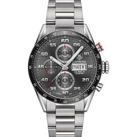 Carrera 43MM Stainless Steel & Ceramic Automatic Tachymeter Chronograph Bracelet Watch