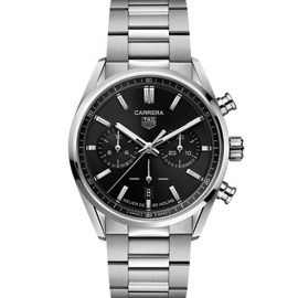 Carrera Elegance 42MM Stainless Steel Bracelet Automatic Chronograph Watch