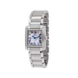 Cartier 2000 pre-owned Tank Francaise 20mm - WHITE