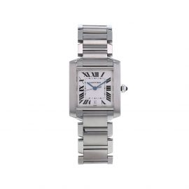 Cartier 2000 pre-owned Tank Française 28mm - White